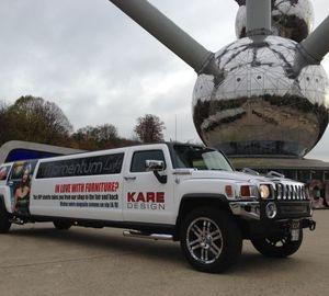 Power Belgium - Service limousine pour le Kare Design a Jette
